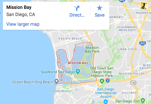Mission Bay Map - Scenic Cycle Tours - San Diego Bike Tours