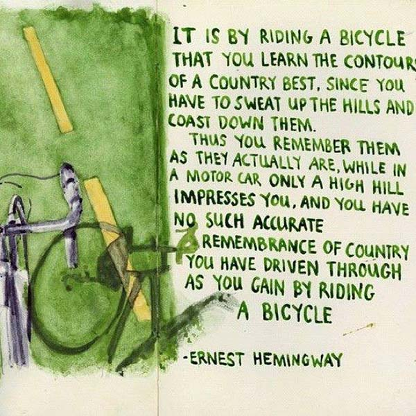 ernest hemmingway - Scenic Cycle Tours - San Diego Bike Tours