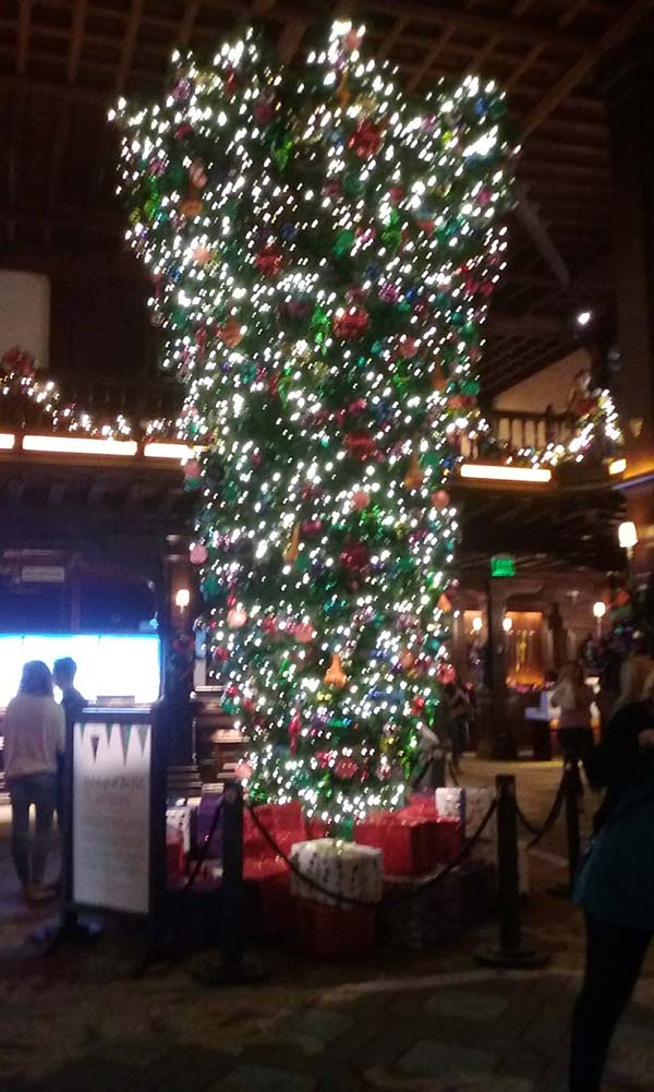 hotel del upside down christmas tree - Scenic Cycle Tours - San Diego Bike Tours