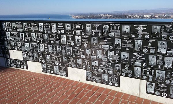 veteran's wall - San Diego Scenic Cycle Tours