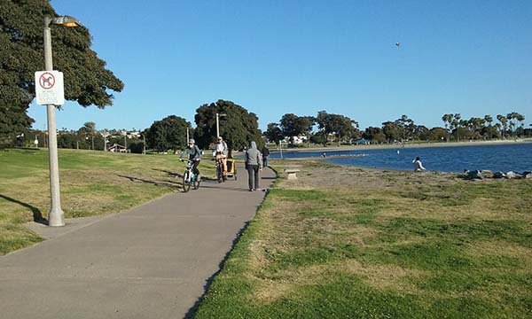 calm mission bay - San Diego Scenic Cycle Tours